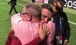 کلیپی احساسی از جردن هندرسون و درآغوش کشیدن پدر سرطانیاش