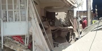 فیلم|تخریب ساختمان مسکونی در قم بر اثر انفجار آبگرمکن