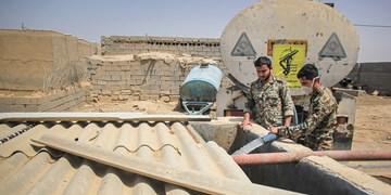 ارسال  آب شرب به مردم غیزانیه توسط سپاه