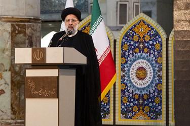 سخنرانی آیت الله رئیسی رئیس قوه قضائیه در رزمایش برکت امام خمینی(ره)