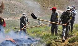 آتشسوزی در ۸۵۰ هکتار از اراضی ملی خراسان رضوی در سال 98
