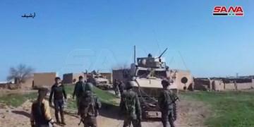 فیلم | مردم و ارتش سوریه راه کاروان نظامی آمریکا را سد کردند