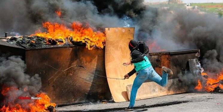 درگیری نظامیان رژیم صهیونیستی با جوانان فلسطینی در کرانه باختری