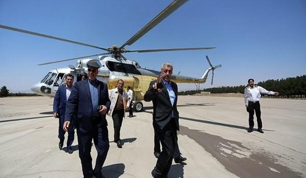 شاهدوا الفيديو احكموا هل التقى برهم صالح بقائد فيلق القدس اليوم الاربعاء والوزير وصل بهليكوبتر؟