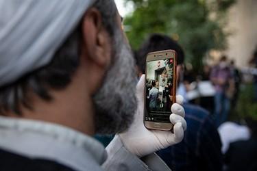 ارتباط زنده  اینستاگرامی یکی از روحانیون حاضر در تجمع بر ضد تبعیض نژادی آمریکا