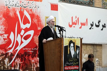 سخنرانی جت الاسلام والمسلمین احتشام کاشانی در بزرگداشت یوم الله 15 خرداد در مدرسه فیضه