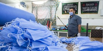فعالیت کارگاه تولید ماسک آستان قدس عباسی از سر گرفته شد +عکس