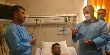 جانفشانی «البرز» در زاگرس!/ دلجویی استاندار از کوهنورد فداکار در بیمارستان+فیلم و عکس