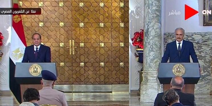 رئیسجمهور مصر از توافق با «حفتر» بر سر آتشبس در لیبی خبر داد