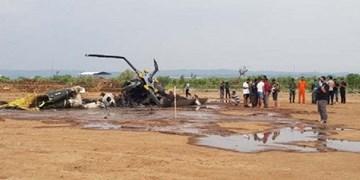 سقوط بالگرد «ام آی-17» ارتش اندونزی 4 کشته برجای گذاشت