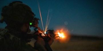 تصاویر   تمرین نظامی عناصر تروریست آمریکایی در پایگاه عین الاسد عراق