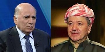 گفتوگوی تلفنی وزیر خارجه عراق و بارزانی