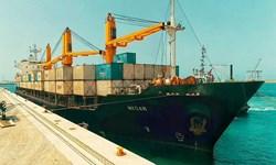 پهلوگیری پنجمین کشتی ترانزیتی هند به افغانستان در بندر شهید بهشتی