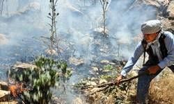«قره تیکانلو» ارسباران همچنان در آتش میسوزد