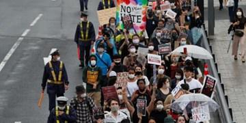 معترضان به قتل «جورج فلوید» در ژاپن هم به خیابانها آمدند
