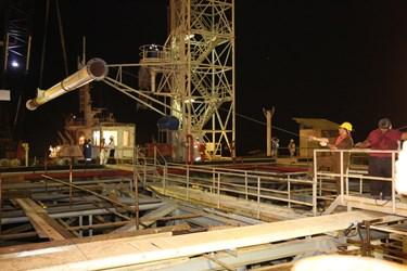 فاز اول تعمیر و نوسازی اسکلههای صادراتی پایانه نفتی خارگ