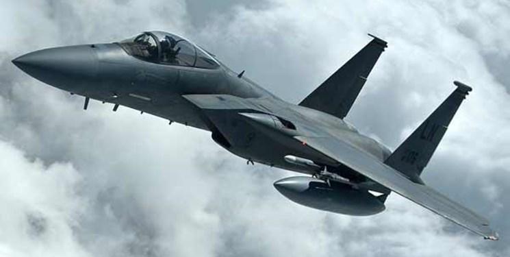 «اف ۱۵» آمریکا در دریای شمال سقوط کرد