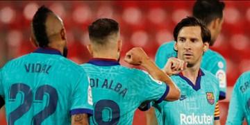 هفته سی و پنجم لالیگا| پیروزی سخت بارسلونا در دربی کاتالونیا/اختلاف با رئال یک امتیاز شد