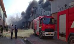 سردخانه صنعتی در خلیلآباد دچار حریق شد