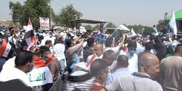 تظاهرات در بغداد در اعتراض به قطع حقوق خانوادههای شهدا و قربانیان رژیم صدام