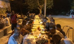 سفره مهربانی باشگاه نساجی در شب شهادت امام صادق(ع)+تصاویر