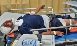 مجروح شدن آتش نشان مشهدی در حین ماموریت به علت حادثه رانندگی