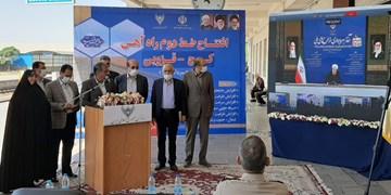 فیلم| افتتاح خط دوم راهآهن البرز -  قزوین توسط رییس جمهور