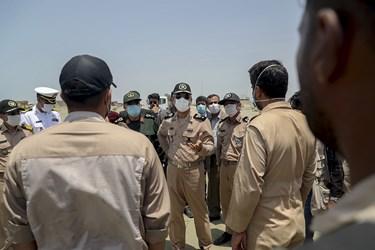 گفت و گوی  امیر دریادار حبیب الله سیاری معاون هماهنگ کننده ارتش در حاشیه رزمایش موشکی ارتش در شمال اقیانوس هند
