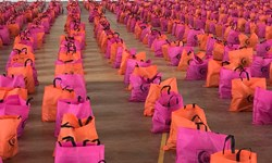 توزیع بیش از 12 هزار بسته معیشتی و اقلام بهداشتی توسط هلالاحمر کرمان
