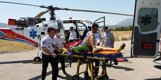سقوط کوهنورد از ارتفاعات دنا/امدادرسانی اورژانس ۱۱۵ کهگیلویه و بویراحمد
