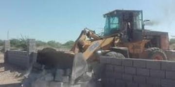 رفع تصرف بیش از ١١هکتار از اراضی ملی فنوج طی یک هفته