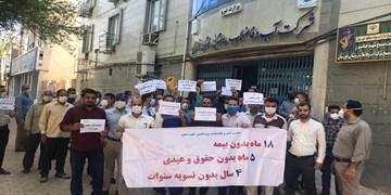 قصه تجمع کارکنان آبفای روستایی خوزستان/آن 500 نفر بلاتکلیف!
