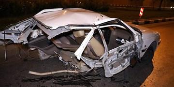 نجات معجزه آسای ۴ سرنشین خودرو پژو پارس در سانحه عجیب رانندگی در مشهد