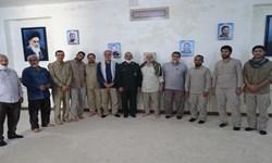 بازدید مسؤولان استانی از فعالیت قرارگاه دست سلیمانی در غیزانیه