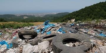 کوه زباله در جنگل
