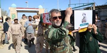 ورود پیکر ۱۹۲ شهید دفاع مقدس از مرز شلمچه