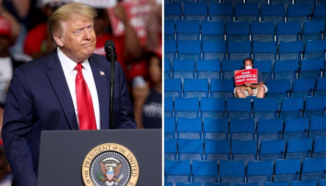 13990402000390 Test NewPhotoFree - رئیس کارزار انتخاباتی ترامپ: صندلیهای خالی کار گروه موسیقی «پاپ کرهای» بود!