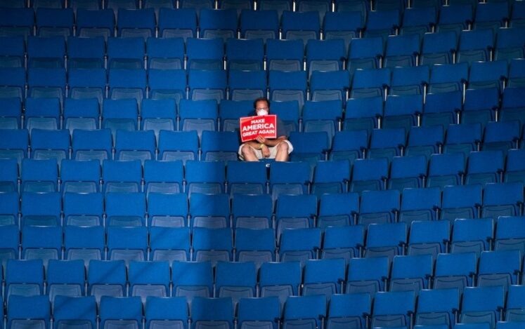 13990402000393 Test NewPhotoFree - رئیس کارزار انتخاباتی ترامپ: صندلیهای خالی کار گروه موسیقی «پاپ کرهای» بود!