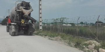 توقیف  کامیون تخلیه پساب معدنی در شهرستان نوشهر