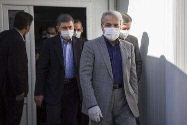 محمدباقر نوبخت رئیس سازمان برنامه و بودجه در بازدید از منطقه 2 آزادراه تهران ـ شمال