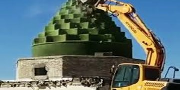 قصه تلخ تخریب  گنبد امامزاده حمزه ماهشهر/میراث فرهنگی: اوقاف مقصر اصلی نابودی این اثر ملی است