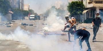 درگیری معترضان و نیروهای امنیتی در جنوب تونس