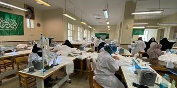 تولید ماسک، گان و شیلد در کتابخانه علامه طرشتی