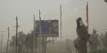 فیلم  جولان طوفان شن در «فهرج» کرمان