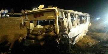 آمار مصدومان تصادف اتوبوس و کامیون در نیشابور به ۳۴ نفر رسید/ حال ۵ نفر وخیم است