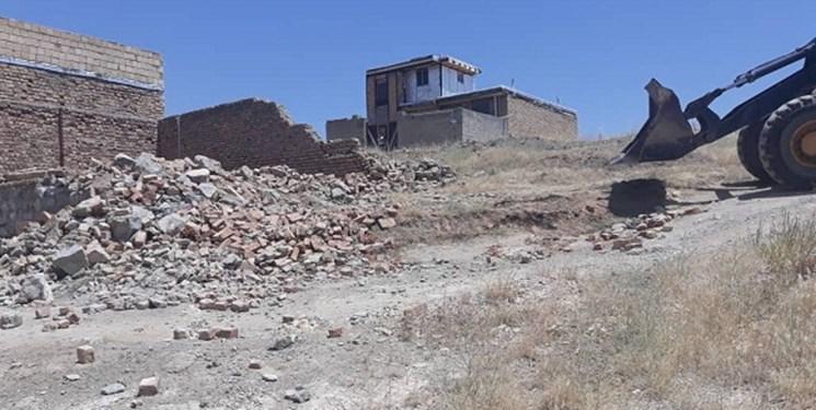 1032 مترمربع از اراضی ملی در سنندج  رفع تصرف شد