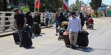 عکس | خروج طلاب آذری از مرز آستارا