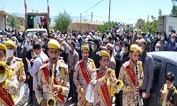 وداع و خاکسپاری پیکر جانباز شهید 70 درصد«علیاکبر عربی» در کوهبنان