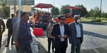 اجرای پلیمری روکش آسفالت در بلوار ارم