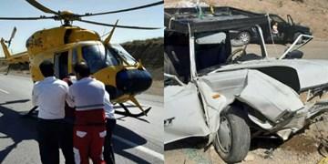 وقوع ۲ تصادف در محورهای سمنان/ مصدومان با بالگرد اورژانس منتقل شدند